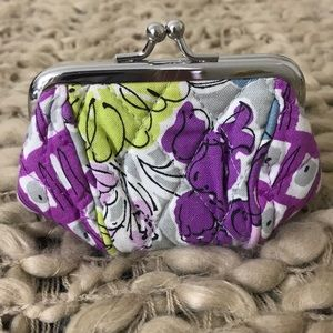 Vera Bradley Mini Kisslock Coin Purse Watercolor